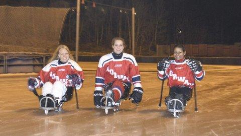 Etter gladnyheten dro de tre jentene rett på trening på Slåtthaug.