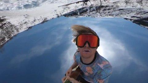 Stian Aadland viser aspirerende snowboard- og gitarspirer hvor «lett» det kan gjøres.