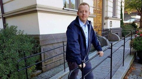 Adrian Ness Løvsjø er gruppeleder i Porsgrunn Frp.