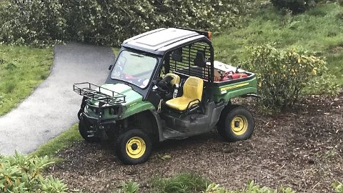 Natt til lørdag forsvant denne golfbilen fra Fan golfklubb. Dette er langt ifra første gangen at de blir rammet av innbrudd og tyveri.