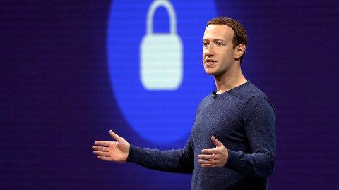Facebook stuper på en ny omdømmeundersøkelse. Her er Facebook-gründer og sjef, Mark Zuckerberg.