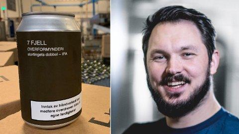 Sjefen i 7 Fjell Bryggeri, Jens Eikeset, har sett seg lei på strenge norsk alkoholreguleringer, og lager egen protest-øl.  Foto: 7F