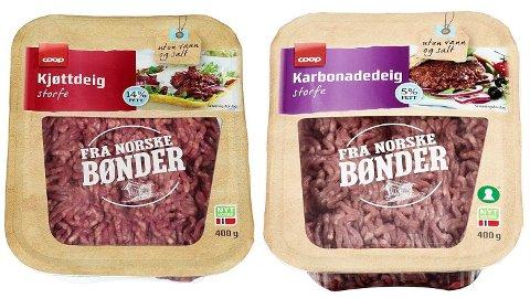 TILBAKEKALLER: Coop tilbakekaller flere produkter etter mistanke om salmonella.
