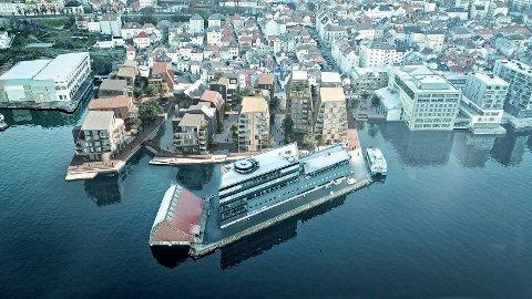 Slik ser de nye planene for Nøstet ut. 14.000 kvadratmeter med nye boliger og sjøpromenade som går helt bort til Georgernes Verft.