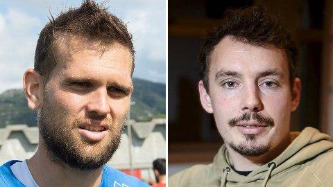 Mikkel Andersen (til venstre) ønsket å terminere kontrakten, og reiste hjem til Danmark. Vegard Forren ble enig med Brann om det samme, og kjørte til Molde.