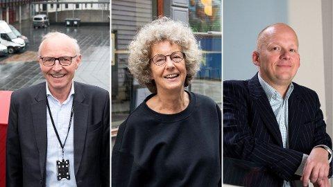 Olav Munch, direktør for Grieghallen, Kristin Helle-Valle, sjef for Litteraturhuset i Bergen, og Petter Snare, direktør ved Kode, skryter alle av kulturminister Abid Raja (V). Nå er de spent på hvem som tar over.