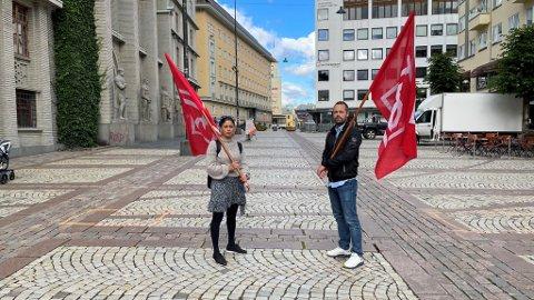 LO i Bergen og Omland er klare for lørdagens demonstrasjon. De lover at Sian skal få kjenne på ubehaget av å være rasist i Bergen, på en ikke-voldelig måte. Leder for LO i Bergen og Omland, Fauzia Hussain-Wiik og leder for  Handel og Kontor region Vest, Espen Berntsen.