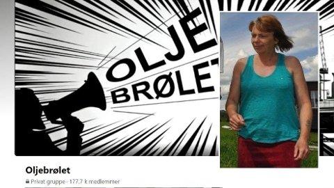 Helene Sørbu var den som opprettet gruppen Oljebrølet. Nå er hun ikke lenger medlem Foto: Skjermdump/Kristin Stavik Moshagen, OA