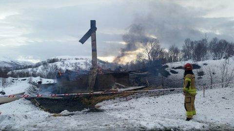 Brann på Guvåg.