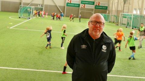 Fornøyd: Knut Norgren har aldri opplevd like godt oppmøte på FFO sin fotballskole i høstferien.