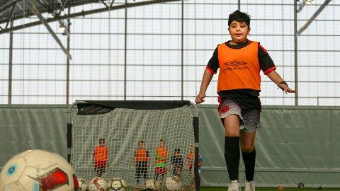 Store drømmer: Dylan Amjadian har et klart mål for fotballkarrieren. Han vil spille for Manchester United.
