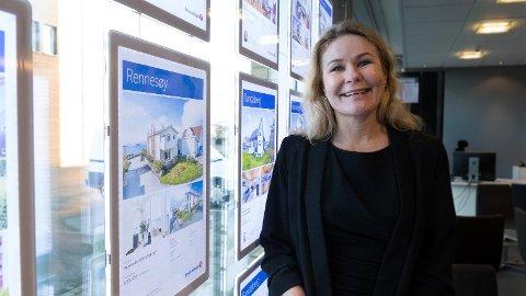 Eiendomsmegler: Margareth Jensen i Eiendomsmegler1 mener boligmarkedet begynner å normalisere seg.