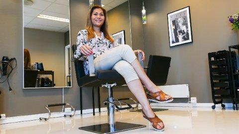 Frisørsalong: Mona Chaken åpnet nylig dørene til den nye frisørsalongen på Mosterøy.