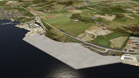 Tillatelse til utfylling i sjø: Over tre millioner kubikk sprengstein fra tunneldriving i Rogfast skal bli til et nytt, stort industri- og næringsareal i Mekjarvik. Fylkesmannen har nå gitt Statens vegvesen tillatelse til å fylle i sjøen, men stiller strenge krav til hvordan det skal gjennomføres.