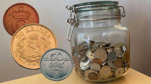 Sjeldne: Har du gamle mynter hjemme, kan de fort vise seg å være av verdi.