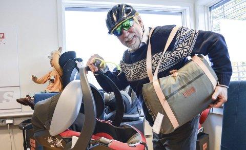 Pakket og klar: Hans Kristian Torgersen ser mulighet til å vokse i mange markeder og land – HTS satser blant annet på hjelmer, stellevesker, stoler, takbokser, briller og elektriske postbiler.
