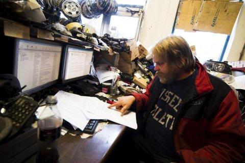 VENTER FORTSATT: Leif Arne Rolfstad venter på svar fra kommunen om sine planer om å bygge et moderne bilfragmenteringsverk.
