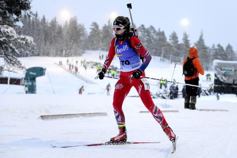 Best: Ida Lien var best av alle da hun søndag gikk inn til seier i kvinner 18 år, på sprinten under norgescuprennet i Orkdal. Nå er hun førstereserve til Ungdoms-OL.Begge foto: Arne Brunes