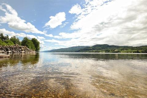Vakkert: Denne strandlinjen ved Eikern kan bli din for 4,5 millioner kroner.