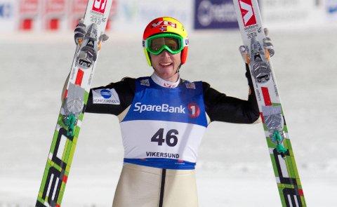 Kan bli slettet: Johan Remen Evensen jublet for verdensrekord allerede i 2011. Hverken i 2012, eller 2013 ble rekorden slått. Det kan skje denne vinteren.