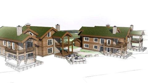 STAV OG LAFT: Første byggetrinn består av to leilighetsbygg med til sammen åtte selveierleiligheter, tegnet av AD Arkitekter.