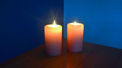 KOSELIG: Selv om det er kjedelig at strømmen forsvinner, kan det også bli riktig så koselig når de levende lysene kommer i stedet.