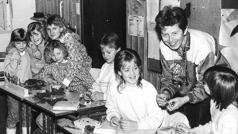 EGGEDAL SKOLE: Juleverksted på 80-tallet.