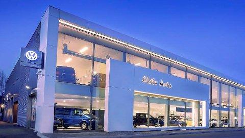 BYTTER NAVN: Aktiv Auto i Hokksund er blant selskapene som bytter navn til Mobile.