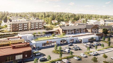 STRANDPROMENADEN: Etter en uke på markedet er 2 av 27 leiligheter solgt, og prosjektleder Kate Sandø venter på signeringen av salgskontraktene på ytterligere tre leiligheter.