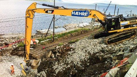 FORTSATT HÆHRE: De mange gravemaskinene som hittil har vært merket «Hæhre» trenger ikke skifte logo, med navnebytte fra nyttår.