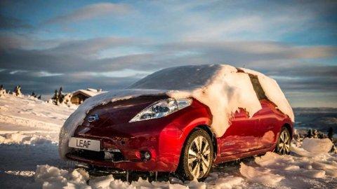 POPULÆR: Nå ruller det 50.000 eksemplarer av Nissan Leaf på norske veier. Det hadde ikke mange trodd da bilen ble lansert første gang for syv år siden.