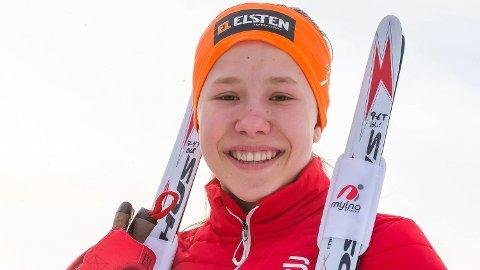 SMADRET KONKURENTENE: Helene Marie Fossesholm gikk inn til NM-gull i juniormesterskapet på Savalen fredag.