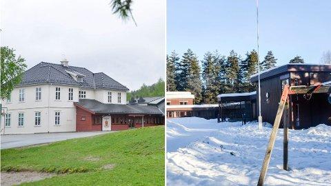 KAN BLI STENGT: Buskerud skole (t.v.) og Sysle skole er av barneskolene som foreslås nedlagt for heller å bli del av større skoler i Vikersund og Åmot.