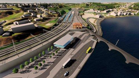 PLANEN: Slik er det planlagt at det nye stasjonsområdet kan bli, men når?