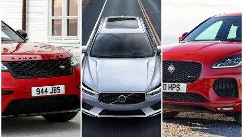 DE VERSTE: Land Rover, Jaguar og Volvo havner på bunn i J.D Powers kvalitetsundersøkelse for 2018. Illustrasjonsfoto