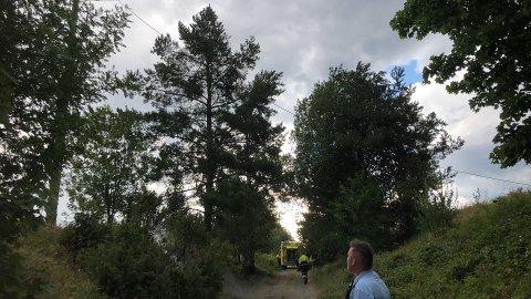 SKOGBRANN: Brannvesenet i Modum måtte rykke ut til en mindre brann ved Bøen, mens mannskapene i Sigdal hadde en svært travel ettermiddag torsdag.