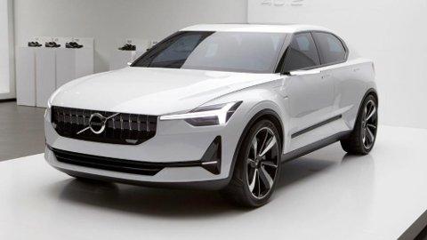 VOLVO-FETTER: Polestar har nylig avslørt både pris og rekkevidde på sin aller første elbil, som blir en direkte konkurrent til Tesla Model 3. Bilen skal være nær slektet til konseptbilen 40.2 (bildet) som Volvo viste for et par år tilbake.