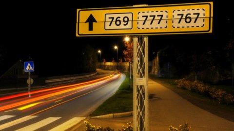 MÅ ENDRES: Dagens referansesystemet blir avlegs og misvisende når kommune- og fylkesgrenser endres som følge av Kommune- og regionreformen fra januar 2020. Det gjør også at mange veier må få nytt nummer.