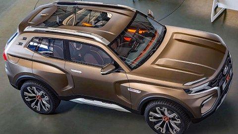 NYE TANKER: Så tøff har du neppe sett en Lada før? For det er nemlig Lada som står bak dette konseptet som kan bli virkelighet i 2020.
