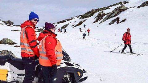 ROLIG: Det er så langt i påskeuka ikke meldt om alvorlige skader den lokale fjellheimen, men hjelpekorpset i Sigdal har likevel måttet rykke ut til en del strekkskader i Eggedalsfjellet.
