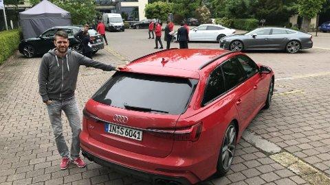 Broom-Vegard er på plass i Frankfurt, der han tester nye Audi S6/S7 og SQ5. Dette er heftige familiebiler, som ALLE går på helt nyutviklede dieselmotorer.