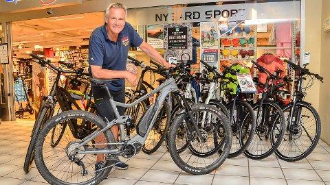 REKORDSALG: Aldri før har Jens Erik Nygård solgt så mange elsykler som det han har gjort i sommer.