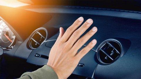 Hæ... Kommer det ikke noe kald luft? Da kan det bli mange varme dager i bilen.