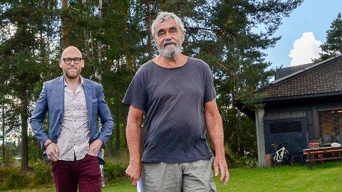 KJEMPEBYKS: Rådmann Stig Rune Kroken og ordfører Gustav Kalager har all grunn til å være fornøyde, for Krødsherad kommune har klartret til en 22. plass i Kommunebarometeret 2019.