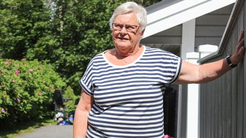 UTRYGT: Berit Hølen opplever det utrygt at noen lusker rundt huset hennes på natta.