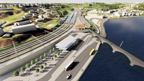 Timestog til oslo: Hønefoss stasjon blir ny med Ringeriksbanen klar i 2028. Da kan tog fra Oslo kjøre direkte til Vikersund fra Hønefoss, uten at passasjerer må bytte tog.            Illustrasjonsfoto