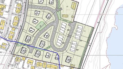 TOMTER: Slik ser utbyggerne for seg at det planlagte boligfeltet kan bebygges.