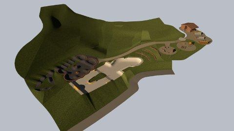 SLIK BLIR DET: Dette er skissene til den nye betongparken på Krøderen.