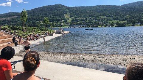 GOD KVALITET: Pollen i Vikersund har god badevannskvalitet viser målingen som ble gjort 30. juni.