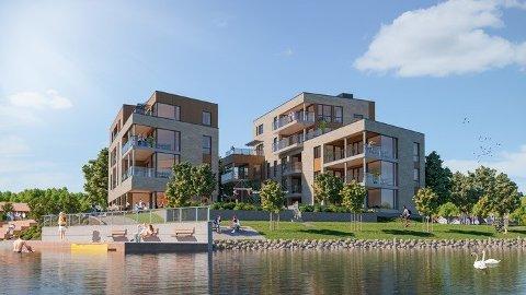 TREKKES: Planen var å starte byggingen av Fjordbyen Brygge allerede til våren, men nå trekkes prosjektet fra markedet i sin nåværende form.